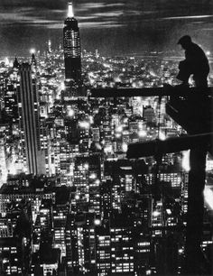 Reminds us of a construction worker contemplating the possibility of becoming Batman.  Awesome!