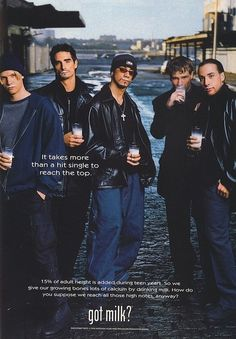 BSB got milk? ad. I had this hanging on my bedroom wall for quite some time.