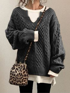 S,M,L,XL,XXL,3XL Casual Sweaters, Vintage Sweaters, Tops Vintage, Fall Winter Outfits, Autumn Winter Fashion, Image Bleu, Looks Style, My Style, Top Casual