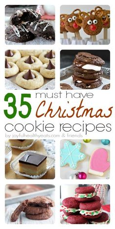 35 must have Christmas Cookie Recipes for this holiday season; from traditional to kid friendly to out of the box christmas cookies. | www.joyfulhealthyeats.com