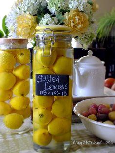 【梅子家】,過日子的幸福滋味: 醃漬鹹檸檬,另類女兒紅 【2013 起醃】