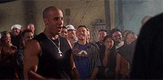 Paul Walker & Vin Diesel - The Fast and the Furious GIF