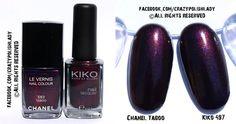 chanel taboo vs. Kiko 497  high/low price dupes