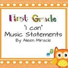 "Many music teachers are required to post ""I Can"" statements so that students are aware of their learning objectives during each lesson. This produc..."