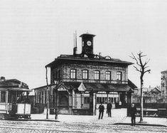 Der Lokalbahnhof Frankfurt Sachsenhausen-Offenbach um 1900.