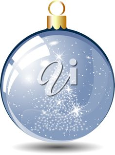 iCLIPART - Clip Art Illustration of a Christmas Tree Decoration