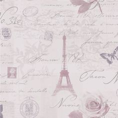 Heather - Lilac / Silver - 97751 - Calligraphy - French - Paris - Holden Decor Wallpaper by Holden Decor, Amazon £11.99