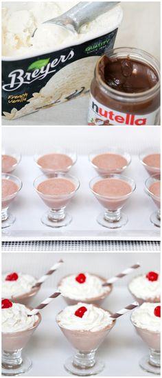 Mini Nutella Shakes
