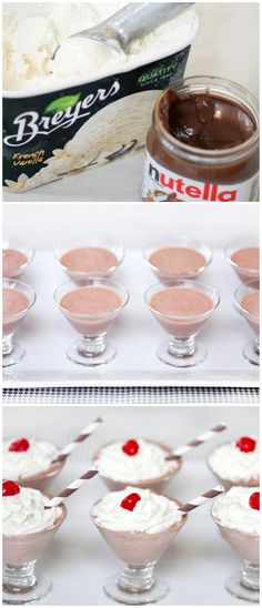 Mini Nutella Shakes
