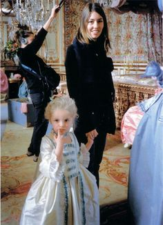Sofia Coppola on the set of Marie Antoinette