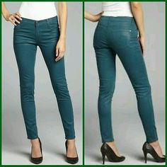 nwt JAMES Jeans TWIGGY COATED Legging SLICKED SUPER SKINNY Jean Pants PEACOCK 26