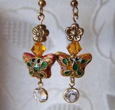 Clearance Cloisonne Butterfly with by lindasoriginaljewels on Etsy, $6.00  Many new items just added to my clearance section, check 'em out!