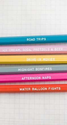 Days of #summer – engraved pencil set by one fine dae
