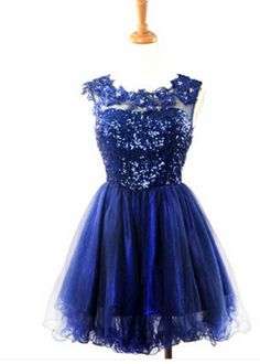 Homecoming Dress,Short Prom Gown,Tulle Homecoming Gowns,Sequin Party Dress,Sequined