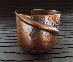 Handmade Copper Jewelry / Fold Formed Copper by AddictionToDetail, $56.00