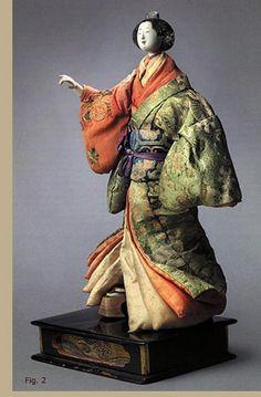 Isho Ningyô depicting an Oiran courtesan. Edo period, 18th century Japanese doll