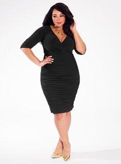 Plus Size Cocktail Dress - Plus Size Dress in Black