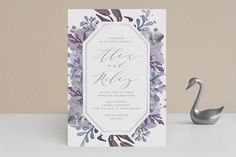 """""""Bohemian Beauty"""" - Foil-pressed Wedding Invitations in Garden by AK Graphics."""