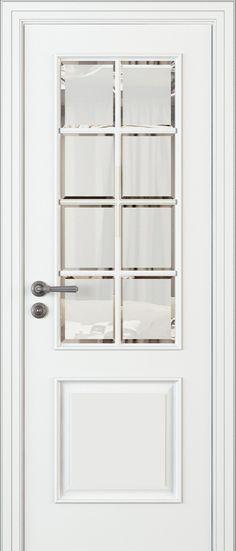 Drzwi ekskluzywne klasyczne lakierowane wewnętrzne drewniane na wymiar białe/szare LR32