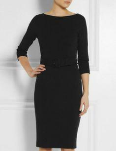 GUCCI Belted Stretch Crepe Dress