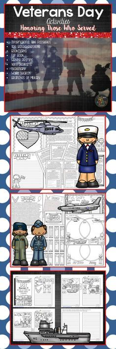 If you are looking for some ideas on incorporating Veterans Day activities into your elementary classroom, your kids are guaranteed to be engaged as they discover facts about this November holiday and the United States Military.  Click here to discover the ease of incorporating these activities into your social studies lesson plans!