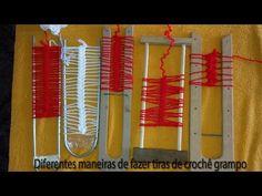 Horquilla (hairpin lace): técnica básica para tejer motivos circulares - YouTube