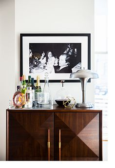 glam bar setup | domino.com