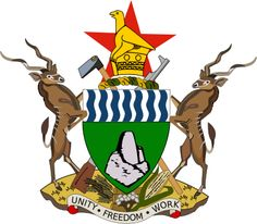The current coat of arms of Zimbabwe was adopted on September one year and five months after the national flag was adopted. Previously the coat of arms of Zimbabwe was identical to the former Coat of arms of Rhodesia. National Animal, National Flag, Zimbabwe Flag, Zimbabwe Africa, Banner, Out Of Africa, Thinking Day, Coat Of Arms, Istanbul