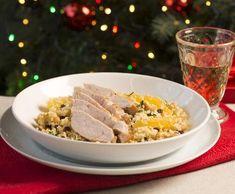 Krůtí prsa s bulgurem a pomerančovou omáčkou | Recepty Albert Grains, Rice, Food, Bulgur, Essen, Meals, Seeds, Yemek, Laughter
