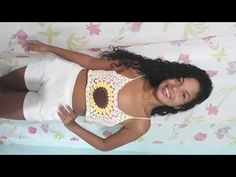 Halter Bralette, Bralette Tops, Diy Crochet, Crochet Tops, Crochet Diagram, Top Pattern, Youtube, Tank Tops, Sewing