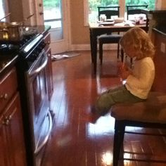 Drinking a juice box and watching the cookies bake. I loved the times when things were simple like that....