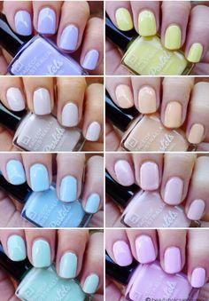 pastel nail polishes