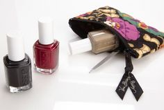 Vera Bradley Coin Purse in Suzani, paired with licorice, scarlett o'hara, and case study by essie