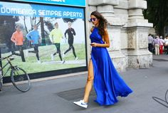 Street Style: Milan Fashion Week Spring 2015 – Vogue Nike sneakers Photographed by Phil Oh