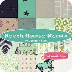 Beach House Remix Fat Quarter Bundle Cotton + Steel Fabrics