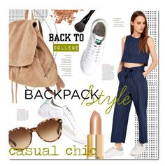 """Casual Chic Backpack Style: Back to College"" by stacey-lynne ❤ liked on Polyvore"