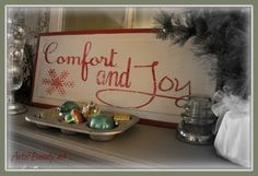 """ART IS BEAUTY: Christmas """"Comfort and Joy"""" sign made from recycled Door Parts"""
