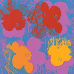 Andy Warhol. Untitled from Flowers. 1970