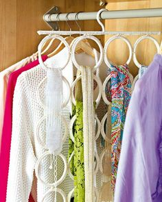 50 ways to store scarves - I need this to meet my get organized for 2012 goal!