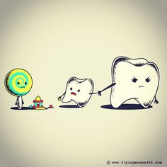 Bad Friend  #friend#teeth#candy#buddy#flyingmouse365 #chowhonlam #tees #tshirt #illustration#art#funny #lol #witty