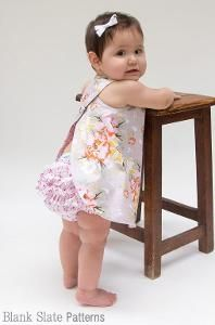 Criss Cross Pinafore and Bloomers