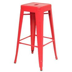Joveco 30 Inches Distressed Metal Bar Stool With Low Back Set Of 2