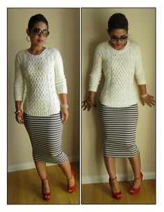 DIY Pencil Skirt: Start to Finish Tutorial w/ Video. Mimi Goodwin assures us that this is the perfect first project for beginner sewers.  A seasoned seamstress, she's also a contributor to Lucky Magazine!