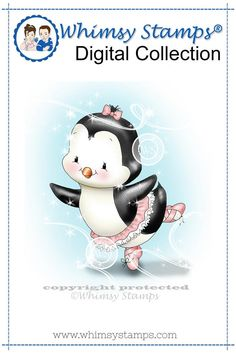 Penguin Prima Ballerina Bella Set - Digital Stamp