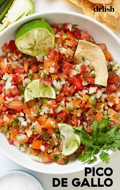 Pico de gallo is here to save the day. #recipe #easy #homemade #howtomake Healthy Meal Prep, Healthy Dinner Recipes, Mexican Food Recipes, Appetizer Recipes, Healthy Snacks, Appetizers, Healthy Eating, Cooking Recipes, Easy Vegetable Recipes