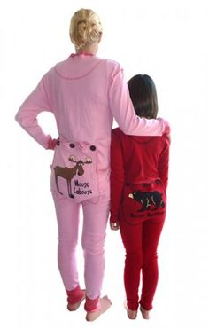 Adult Onesie Longjohn Pyjamas - All Cotton available in Red, Blue, Pink, Brown or Check