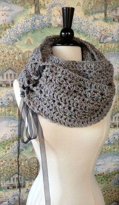 Trinity Scarf Crochet Pattern DIY Scarf or Oversized Chunky Cowl on Etsy, $5.99