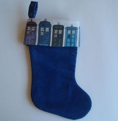 Wonderful LIttle Doctor Who Christmas Stocking, Gotta Look. $10.00, via Etsy.