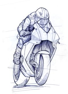 RR TTXGP zero carbon fuel Grand Prix Motorcycle - Grantham-based Evo Design Solutions was the first company to commit to the TTXGP zero carbon fuel Grand Prix. The race is to be held on the sa. Sketch Design, Drawing Sketches, Art Sketches, Character Sketches, Animation Character, Drawing Faces, Drawing Tips, Sketching, Motorcycle Art
