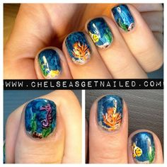 Dive into @Chelsea Queen's underwater manicure! #manicuremonday #nails #beauty  (Taken with Instagram)